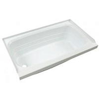 Lippert Standard Tub 24 Inch x 40 Inch Left Hand Drain Parchment ABS
