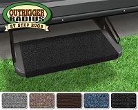 New ProOutrigger RV Step Rug, Black 18