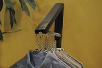 Instahanger Wall Mntd Clothes Hanging System, Black