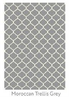 Ruggable Moroccan Trellis Grey 5 Foot x 7 Foot