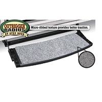 Outrigger Radius RV Step Rug-Stone Gray