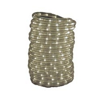 Rope Light; Clear LED; 120 Volt AC; 18 Foot Length; Waterproof; Use Indoors/ Outdoors