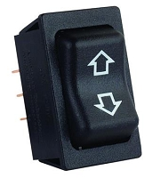 Slide Out Switch Momentary-On/ Off/ Momentary-On Switch 5 Pin Terminal 40 Amp/ 12 Volt Black