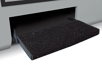 Camper Step Rug, Jumbo Wraparound Plus, Black, 23