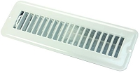 JR Products Heating/ Cooling Register With Damper; Powder Coated; White; Steel