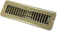 JR Products Heating/ Cooling Register With Damper; Powder Coated; Brown; Steel