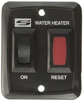 Suburban Mfg  Water Heater Power Switch - Black