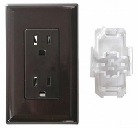 15 AMP Decorated Receptacle, Brown