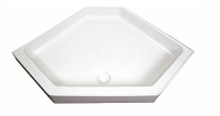 Lippert 24x32 Shower Pan Center Drain White