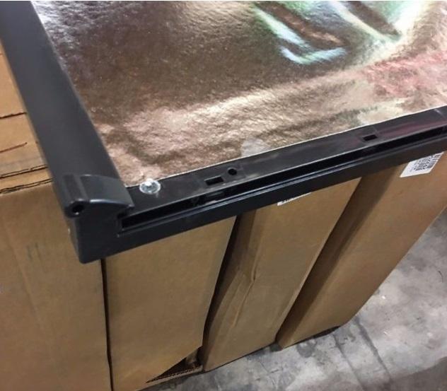 Dometic 2932563055 Black Rh Rv Refrigerator Replacement Door