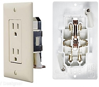 Self Contained Outlet Plate, Ivory