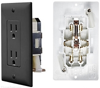 Self contained outlet, Black