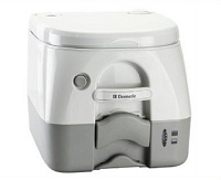 Dometic Portable Toilet 974 - 2.6 Gal. W/Hold Downs-Gray