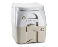 Dometic Portable Toilet 975 - 5 Gal. W/Hold Downs & MSD Fittings-Tan