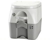 Dometic Portable Toilet 975 - 5 Gal. W/Hold Downs & MSD Fittings-Gray