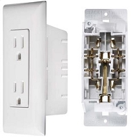 Self Contained Outlet, White, Dual, Speedwire