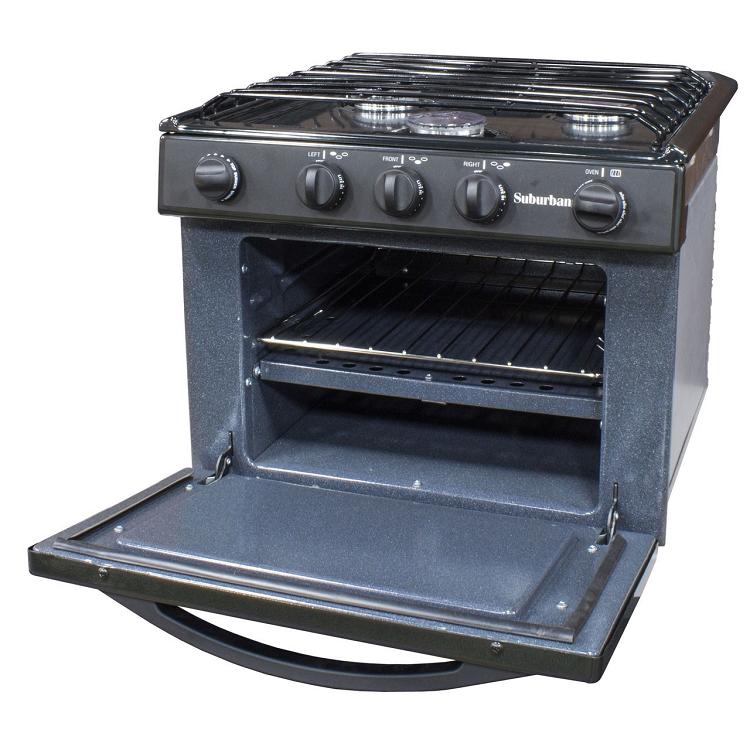 Rv Stove Oven >> Suburban Camper Gas Range 17 Inch Black