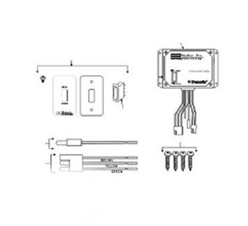 A Amp E Oasis Power Door Awning Remote Switch Assembly