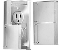 Weather Proof Dual Outlet, Grey