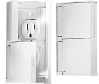 Weather Proof Dual Outlet, White