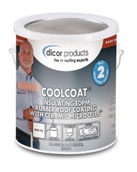 Dicor Coolcoat Insulating EPDM Rubber Roof Coat