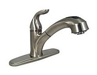 Rv Kitchen Faucet w/Pullout Sprayer, Brushed Nickel
