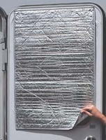 RV Reflective Door Window Cover, Solar Door Shade