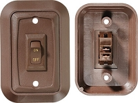 Wall Plate Switch, Brown
