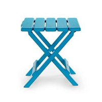 Small Aqua Folding Table