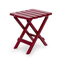 Small Red Folding Table