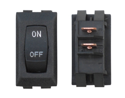 Black RV Labeled On/Off Switch