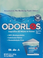 Camper Holding Tank Treatment, Odorlos, Dry, 10-4oz. Pks