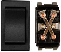 Momentary On/Off Switch, Heavy Duty, 1 Card, Black