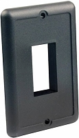 Single Switch Plate, Black
