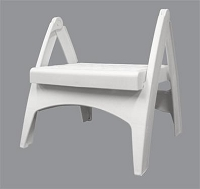 Adams Mfg Step Stool 8530-48-3730 One Step; Foldable White