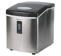 CONTOURE PORTABLE ICE MAKER-STAINLESS STEEL