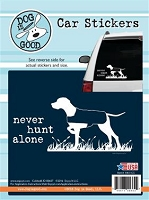 Decal 19011CS Never Hunt Alone