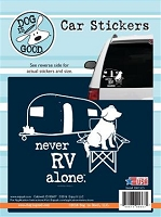 Decal 19015CS Never RV Alone