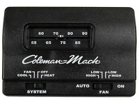 Coleman 12V Heat/Cool Black Thermostat