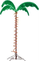 Ming's Mark 4.5' Palm Tree, Green & Yellow LEDs