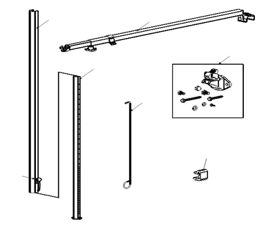 A Amp E Dometic 8500 Heavy Duty Universal Tall Awning Hardware