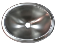 Stainless Steel 10x13 Oval Lavatory RV Sink