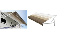A&E 10' 9100 Power Awning Vinyl with Metal Weathersheild
