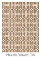Ruggable Modern Fretwork Tan 5 Foot x 7 Foot