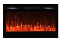Electric Fireplace With Log And Crystal Media, 36