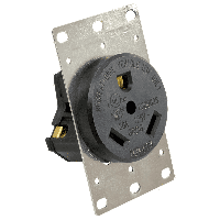 30 AMP Receptacle With Mounting Plate