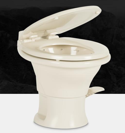 "Dometic 302311683 RV 311 Series 13.5/"" Low Profile Ceramic PowerFlush Toilet Bone"