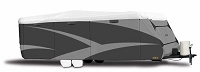 Adco Designer Series Plus Wind Travel Trailer Cover 22'1