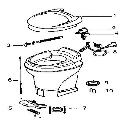 Thetford Rv Toilet Water Valve Replacement Image