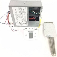 Dometic 3316232.000 LCD Touch Thermostat Cool Furnace Heat Strip with Control Kit Polar White